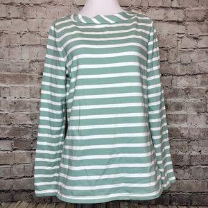 Boden WL654 Green Striped Blightly Boatneck Top 6